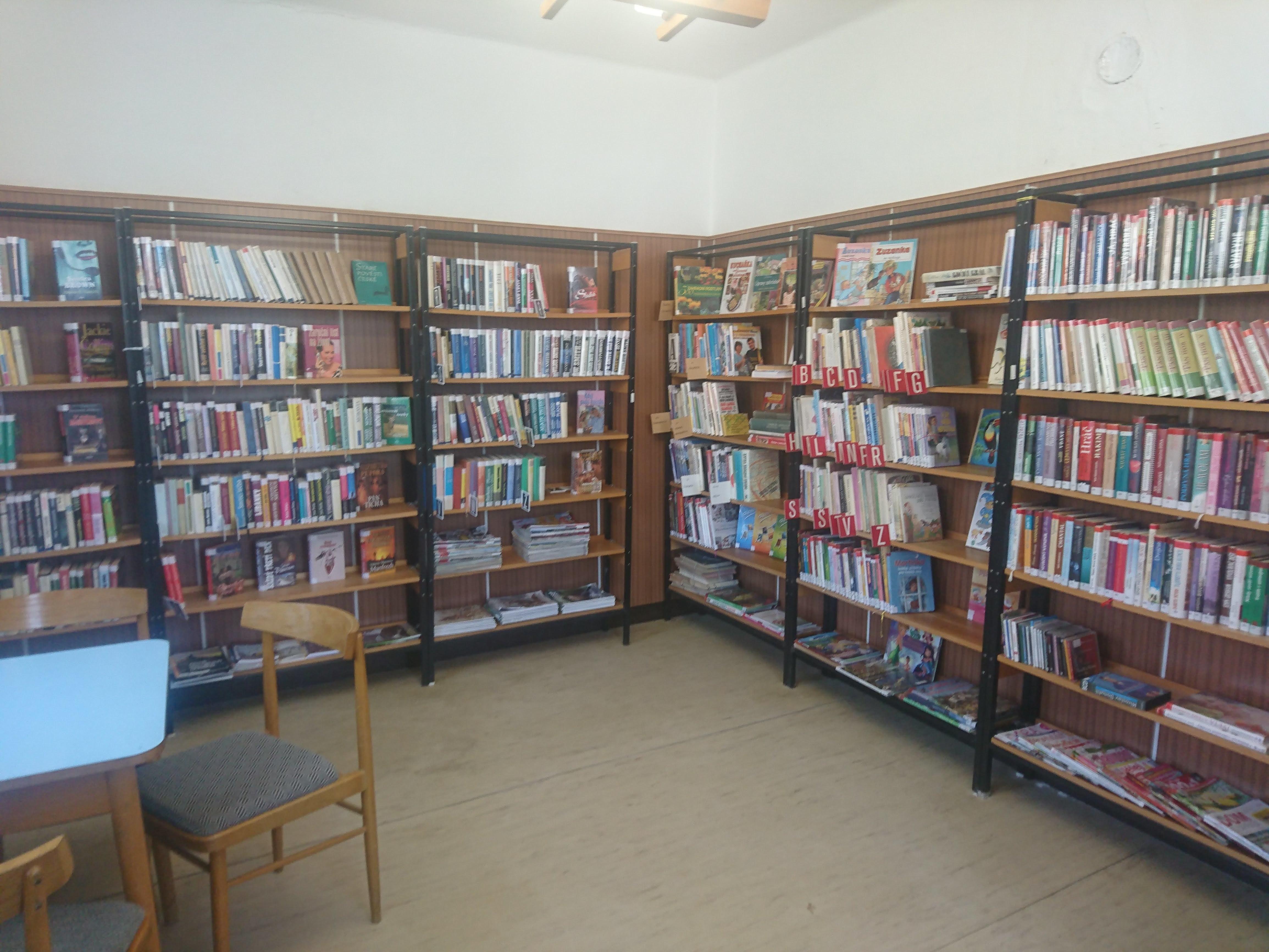 Fofografie knihovny